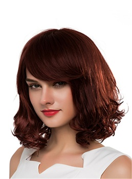 Mishair® Medium Curly Human Hair Capless Wig 16 Inches