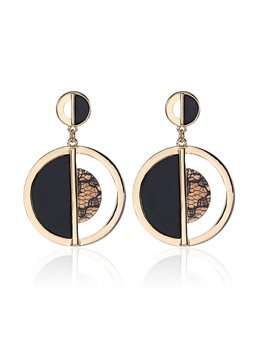 Alloy Semicircle Combination Acrylic Earrings