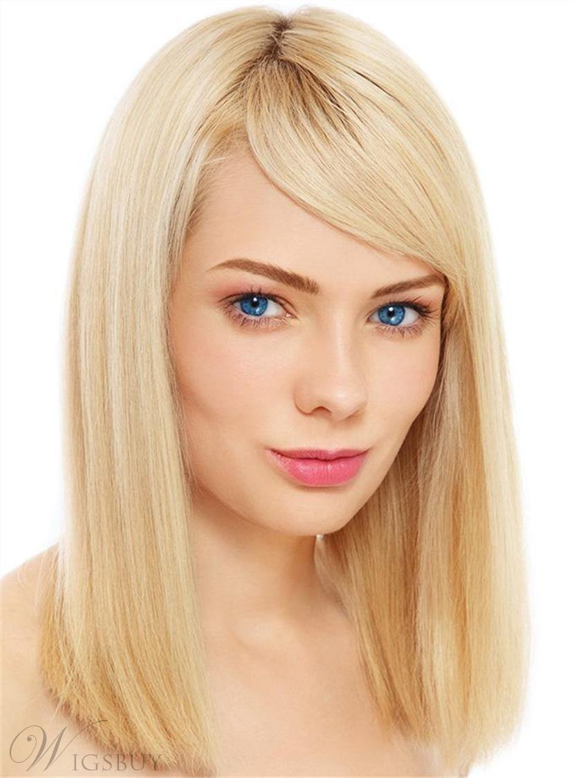 Medium Silky Popular Polished Straight Synthetic Hair Capless Women Wig 12 Inches 12903365