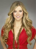 Long Classical Charming Wavy Popular Synthetic Hair Lace Front Women Wig 22 Inches
