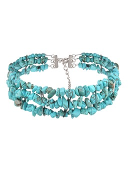 Personalized Natural Multilayer Turquoise Necklace