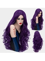 Gorgeous Polished Long Big Curly Mid Part Synthetic Hair Capless Cosplay Wigs 32 Inches