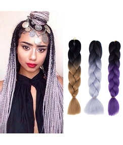 Havana Mambo Colored Twist Braid 24 Inches Crochet Hair Style
