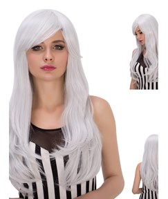 Multicolors Good Synthetic Hair Kinky Curly Cosplay Qulity Capless Wigs 28 Inches