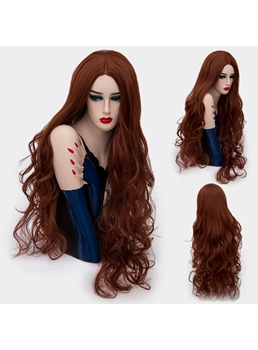 Fluffy Charming Long Big Curly Mid Part Synthetic Hair Capless Cosplay Wigs 32 Inches