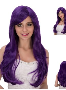 Multicolors Beautiful Synthetic Hair Cosplay Capless Wigs 28 Inches