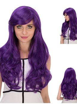 Multicolors Beautiful Synthetic Hair Kinky Curly Cosplay Capless Wigs 28 Inches