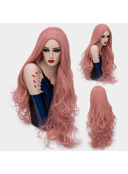 Charming Graceful Long Big Curly Mid Part Synthetic Hair Capless Cosplay Wigs 32 Inches