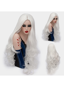 Charming Fashion Long Big Curly Mid Part Synthetic Hair Capless Cosplay Wigs 32 Inches