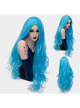 Attractive Amazing Long Big Curly Mid Part Synthetic Hair Capless Cosplay Wigs 32 Inches
