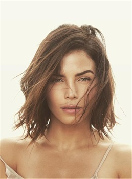 Jenna Dewan Tatum Shoulder-length Hair Straight Attractive Natural Synthetic Hair Lace Front Women Wigs 10 Inches