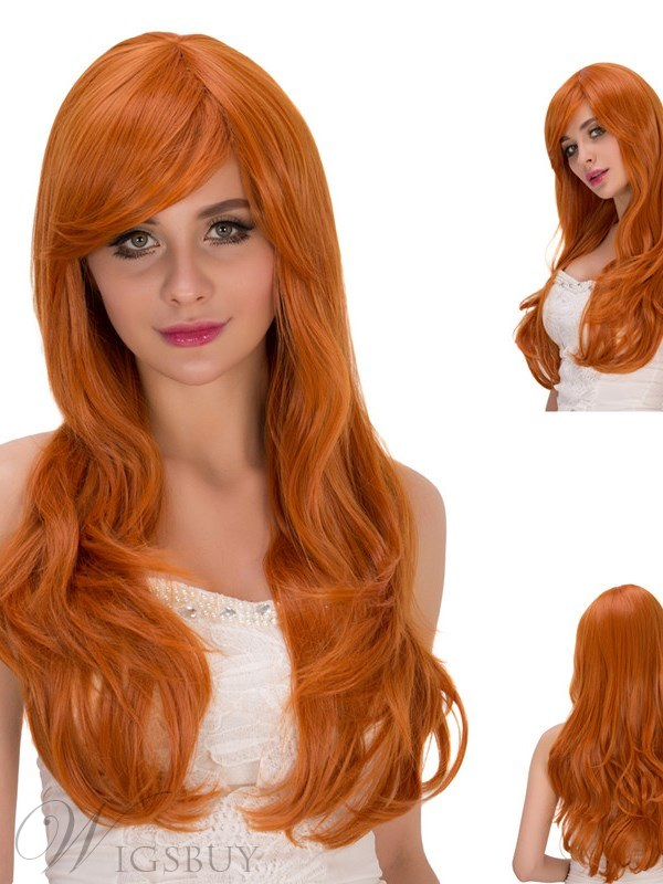 Multicolor Synthetic Hair Capless Cosplay Wigs 28 Inches