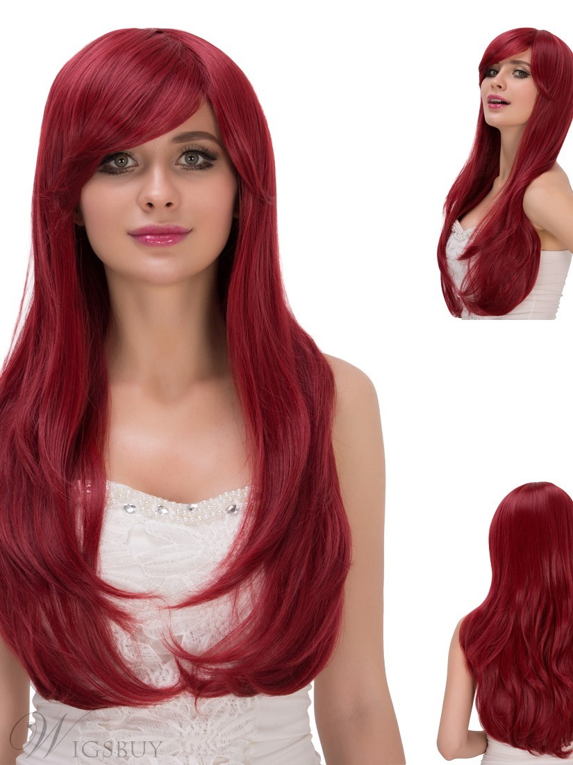 Multicolors Beautiful Synthetic Hair Cosplay Qulity Capless Wigs 28 Inches