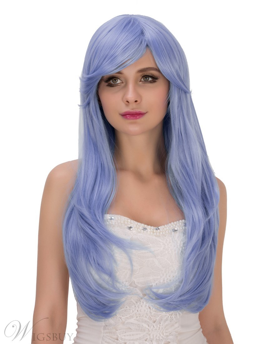 Multicolors Magic Synthetic Wavy Hair Cosplay Capless Fun Wigs 28 Inches