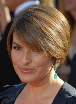 Short Silky Straight Elegant Human Hair Full Lace Women Wigs 8 Inches