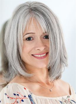 Medium Layered Straight Fluffy Synthetic Hair Capless Wigs for Older Women