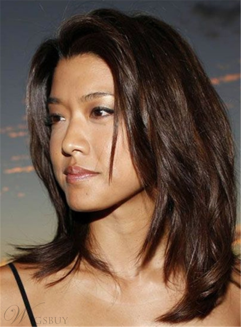 hair styles of grace park brown synthetic mid length 4699