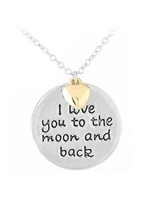 Lettering Round Card Pearl Hot Necklace