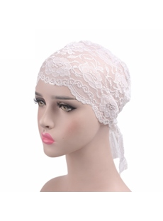 Mesh Lace Skullies & Beanies Turban