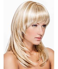 Medium Neat Straight Silky Bob Synthetic Hair Capless Women Wig 14 Inches