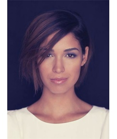 Smooth Layered Bob Hairstyle To Part Hair In The Side Straight Short Synthetic Lace Front Hair Women Wigs 8 Inches