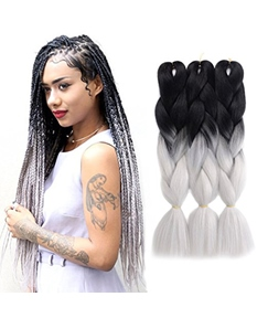 African American Colored Rope Twist Synthetic Crochet Braid Hair 24 Inches