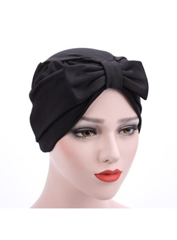 Pleated Bowknot Muslim Turban