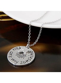 Hot Sale In Love Round Card Letter Pendant Necklace