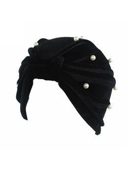 Pleuche Full Pearl Inlaid Muslim Turban