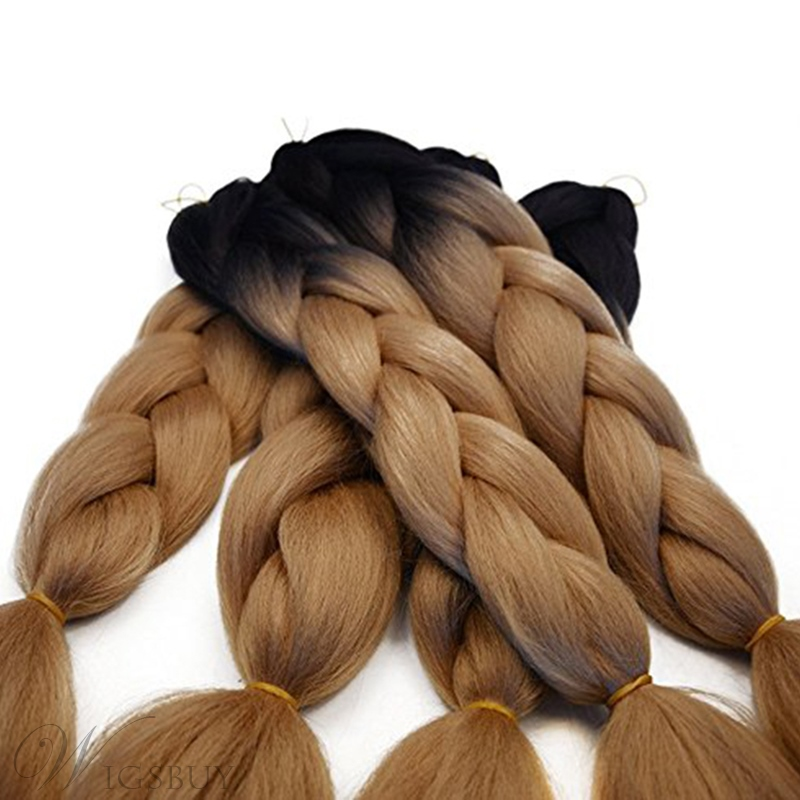 African American Colored Rope Twist Synthetic Braid Hair 24 Inches