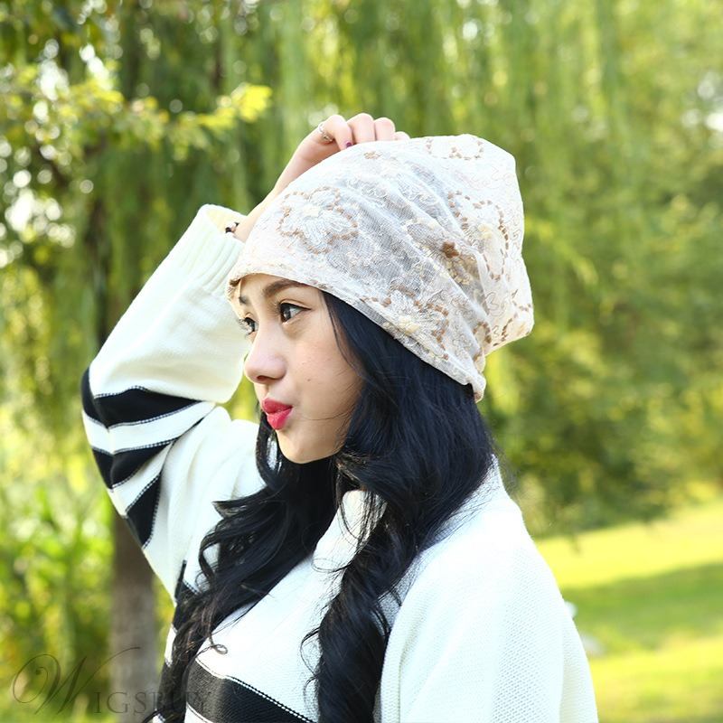 Embroidery Skullies & Beanies Turban