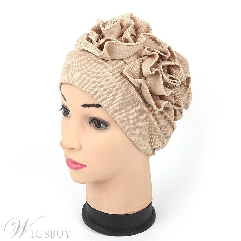 Disk Flower Indian Headcloth Cotton Muslim Turban