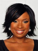 Celebrity Dark Brown Tilted Natural Invert Bob Soft Straight Short Synthetic Lace Front Cap African American Wigs/ Wigs 10 Inches