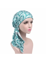 Elastic Cloth Chemotherapy Hat Print Muslim Turban