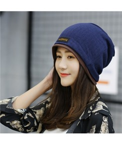 Stripe Double Layered Skullies & Beanies Knitted Hat