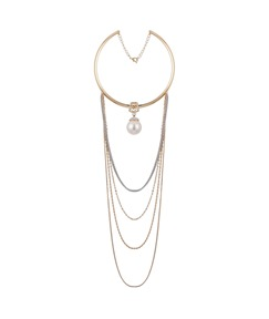 Accshine Multilayer Tassel Pearl Torques Necklace
