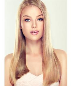 Long Silky Glamour Straight Synthetic Hair Lace Front Women Wig 18 Inches