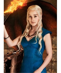 Game of Thrones- Daenerys Wig- Khaleesi Costume- 24in