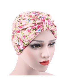 Pastoral Floral Cotton Headcloth Muslim Turban