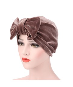 Plain Velvet Adjustable Bowknot Indian Muslim Turban
