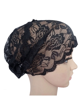 Hollow Mesh See-Through Sweet Headcloth Turban