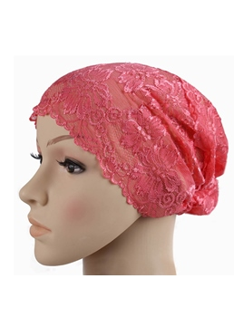 Sweet Hollow Lace Mesh Indian Headcloth Muslim Turban
