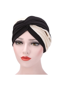 Color Block Patchwork Indian Headcloth Muslim Turban
