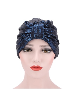Pleated Sequins Personalized Hot Sale Indian Turban