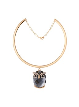 Accshine Owl Rhinestone Diamante Torques Necklace