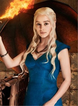 Mother of Dragons- Daenerys Wig- Khaleesi Costume- 24in