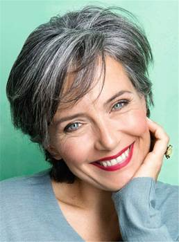 Short Straight Human Hair Full Lace Wigs for Older Women
