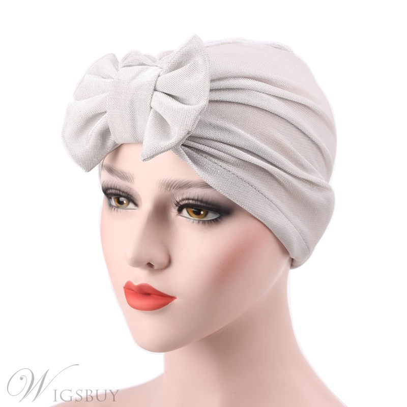 Adjustable Headcloth Plain Velvet Muslim Turban