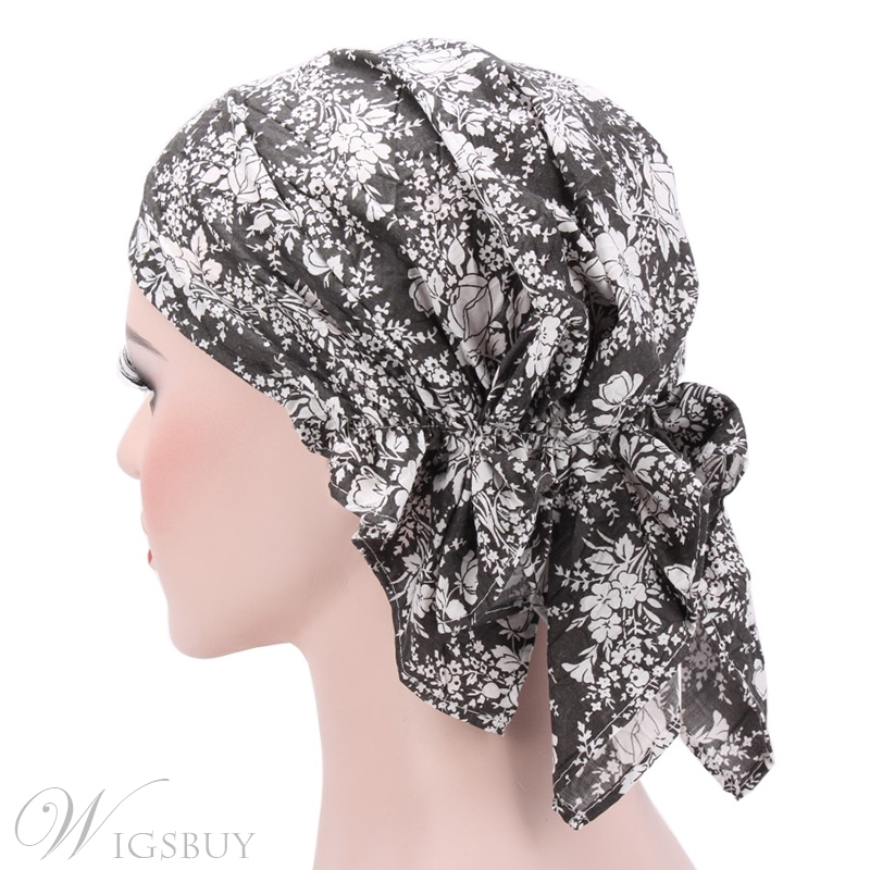 European Print Headcloth Cotton Muslim Turban