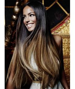 Long Silky Straight Textured Synthetic Hair Lace Front Women Wig 30 Inches
